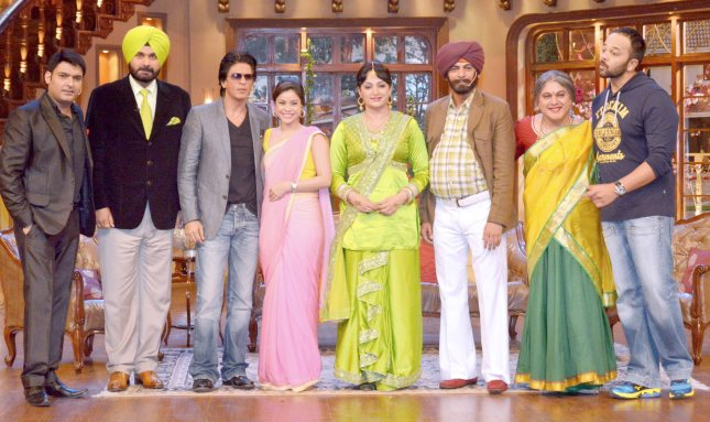 Kapil Sharma, Navjot Singh Sidhu, Shah Rukh Khan and Rohit Shetty1