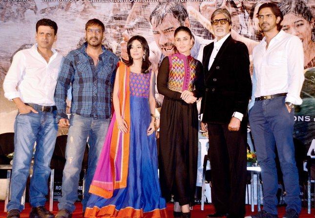 Manoj Bajpayee, Ajay Devgn, Amrita Rao, Kareena Kapoor, Amitabh Bachchan, Arjun Rampal
