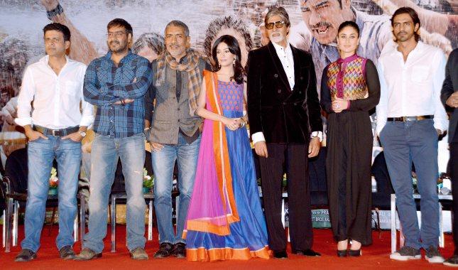Manoj Bajpayee, Ajay Devgn, Prakash Jha,Amitabh Bachchan, Kareena Kapoor and Arjun Rampal