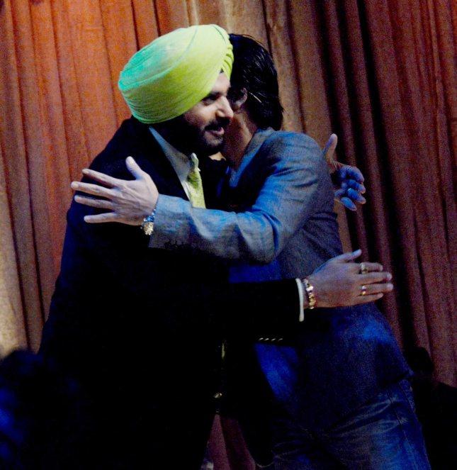 Navjot Singh Sidhu and Shah Rukh Khan