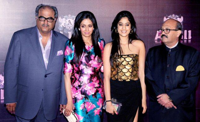 Boney Kapoor, Sridevi, Jhanvi Kapoor, Amar Singh
