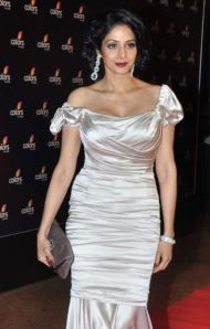 Sridevi at the Colours TV party in Dolce & Gabbana.