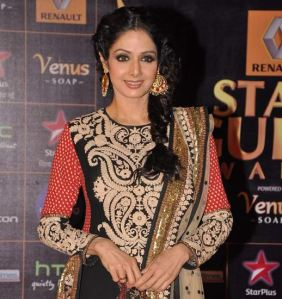 Sridevi in Sabyasachi at the Star Guild Awards 2012.