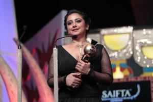 Divya Dutta receiving Best Supporting Actor at the SAIFTA in Durban, South Africa, September 6, 2013.