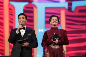 Karan Johar and Dia Mirza hosting at SAIFTA in Durban, South Africa, September 6, 2013.