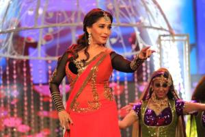 Madhuri Dixit performing at the SAIFTA in Durban, South Africa, September 6, 2013.