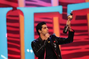 Siddharth Malhotra receiveing an award at SAIFTA in Durban, South Africa, September 6, 2013.
