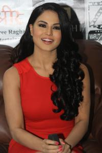 Pakistani actress Veena Malik during a promotional event in Kolkata on Sept. 21, 2013. (Photo: IANS)
