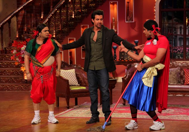 Kiku Sharda, Hrithik Roshan and Sunil Grover