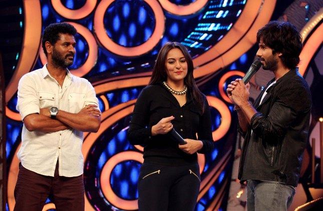 Prabhu Deva, Sonakshi Sinha and Shahid Kapoor (14)