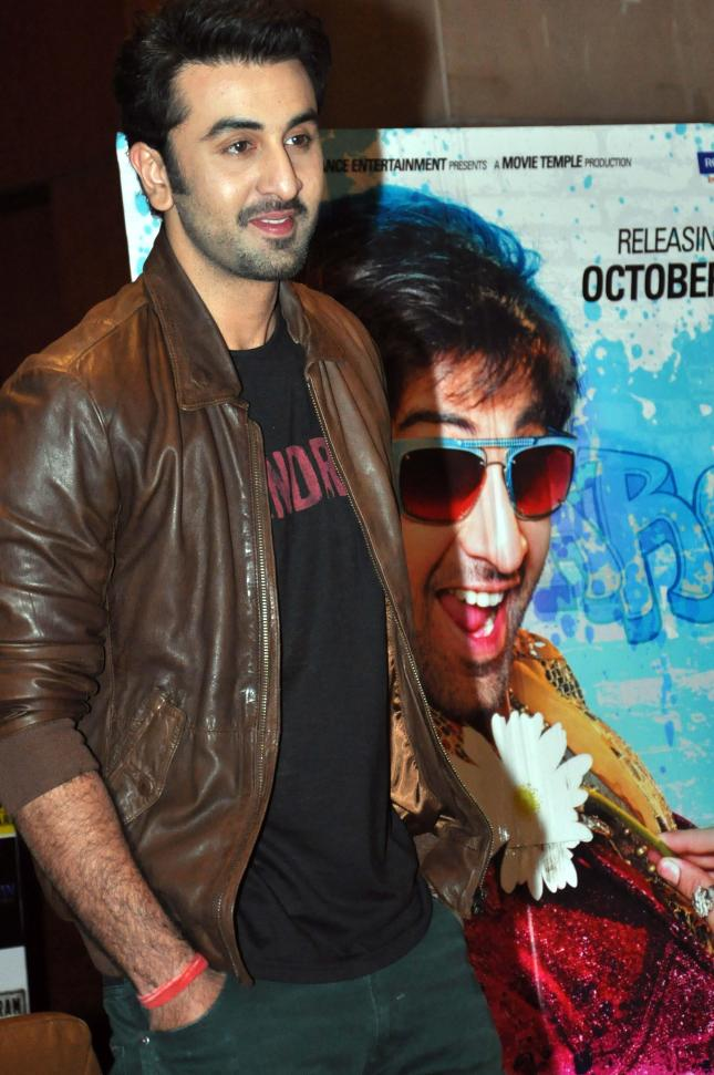 Ranbir Kapoor at a press meet to promote his upcoming film `Besharam