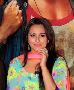 Bollywood actor Sonakshi Sinha during the theatrical trailer release of film R.Rajkumar in Mumbai, India