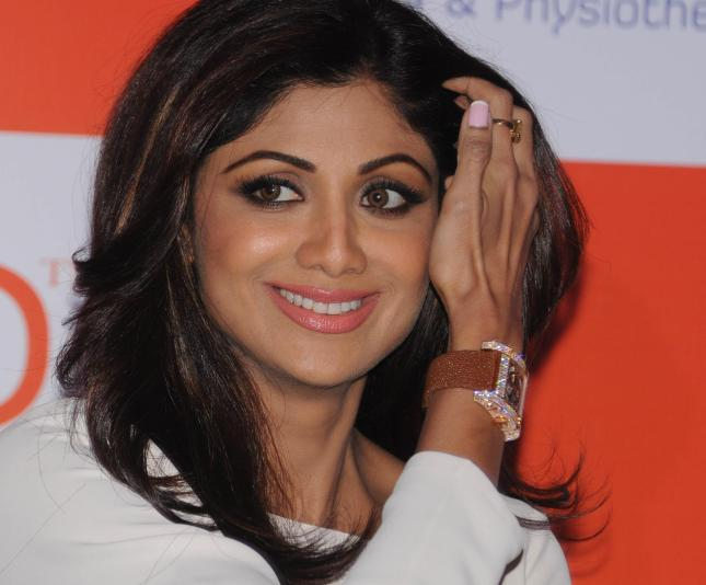 Actress Shilpa Shetty during a press conference of a wellness brand in New Delhi on Nov.21, 2013. (Photo: IANS)
