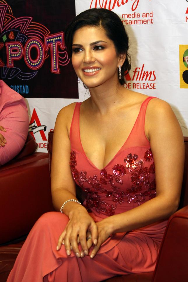 Actress Sunny Leone at a press conference for their film ``Jackpot``, at Spice World Mall in Noida on Dec. 7, 2013. (Photo: Amlan Paliwal/IANS)