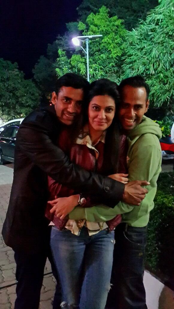 2_Sangram Singh, Payal Rohatgi and  VJ Andy_31Dec2013