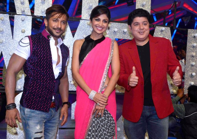 9_Terence Lewis, Shilpa Shetty and Sajid Khan_31Dec2013